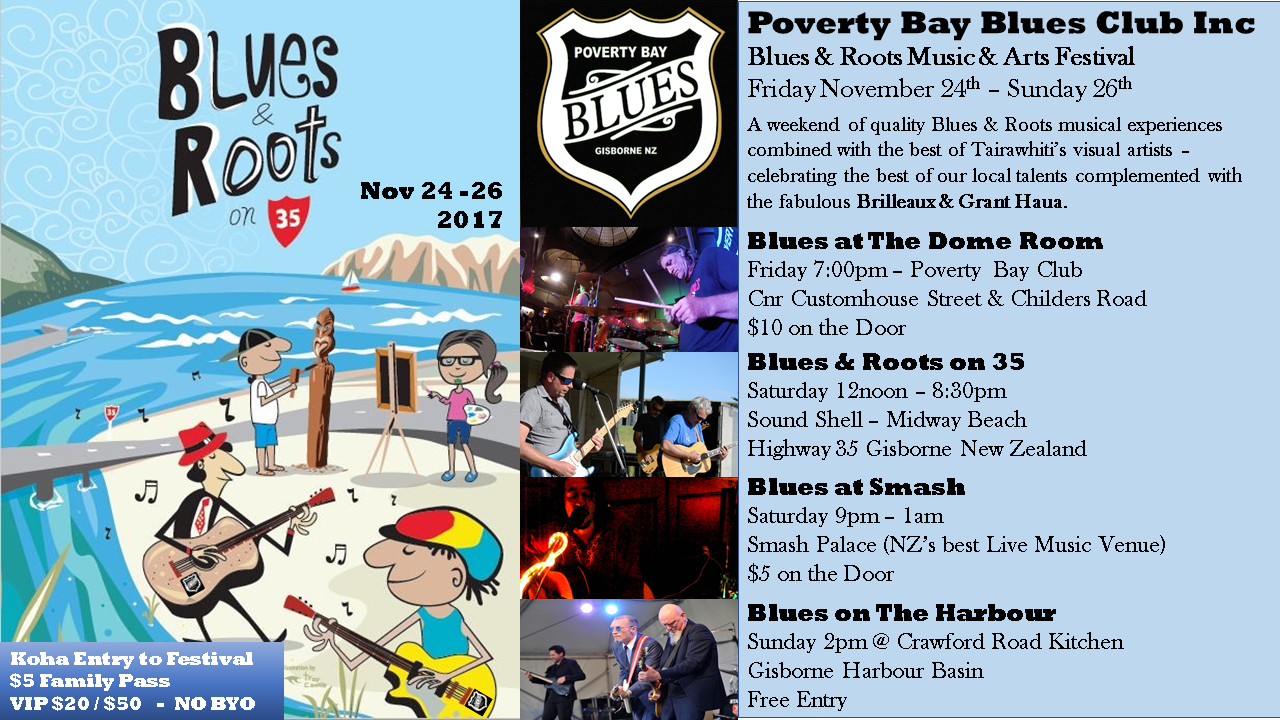 PovertyBay Blues Club | Welcome to Poverty Bay Blues Inc